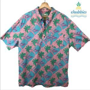 Viceroy x Chubbies Hawaiian Palm Print shirt XL 🌴